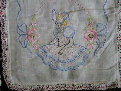 Vintage Lot of 6 Heirloom embroidered Doilies Runners
