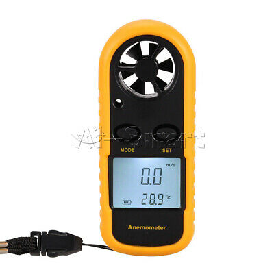 Handheld LCD Digital Anemometer Thermometer Air Wind Speed Gauge Meter Surfing
