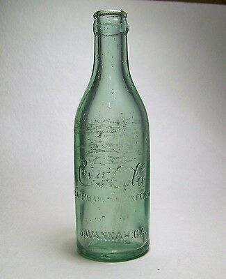 Straight Side, Mid-Body Script Coca-Cola Bottle Savannah, Ga