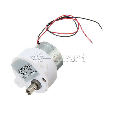 DC 12V 14RPM 2 Wires High Torque Electric Geared Box Reduction Motor AS