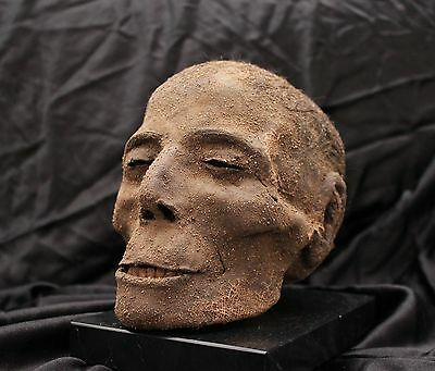 Egyptian mummified head / Cabeza momificada egipcia (oddities, curiosités, raro)