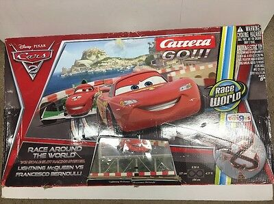 Carrera Go!!! Disney Cars 2 Slot Race Around the World Set Lightning McQueen