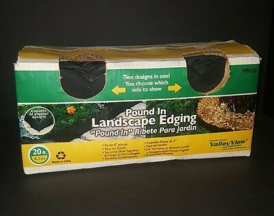Valley View Pound-In Plastic Landscape Edging 20 feet 40 Pieces Box Opened New