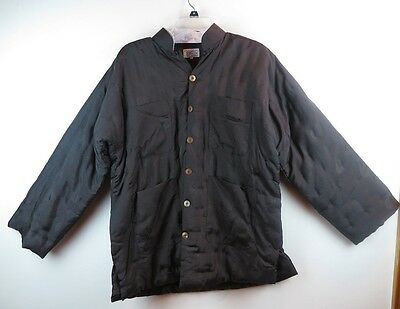 Men's Traditional Chinese Jacket - Rayon Cotton Dark Brown - Size XL - New