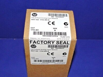 FACTORY SEALED Allen Bradley 1794-IE8 /B Analog Input Module Flex I/O # 2