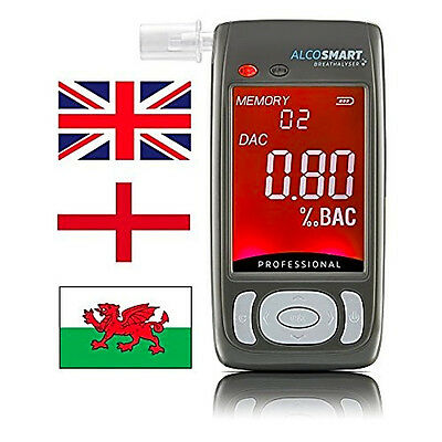 AlcoSmart Professional Alcohol Breath Tester Breathalyser Breathalyzer UK Euro