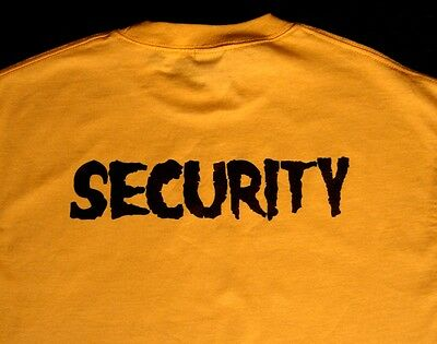Security Event Shirts With Horror Punk Font Halloween Sizes L- 3Xl -Lot Of 29