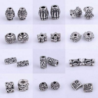 50/100pcs Tibetan Silver Metal Spacer Beads Jewellery Craft Findings