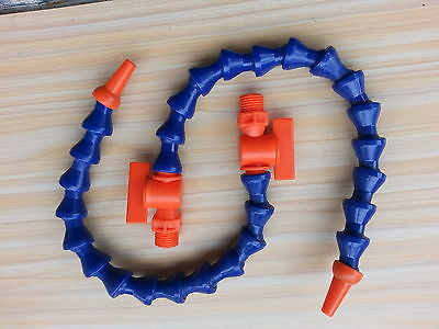 "5pcs High Quality 1/4"" Valve Coolant Hose 20'' 500mm Length for Milling"