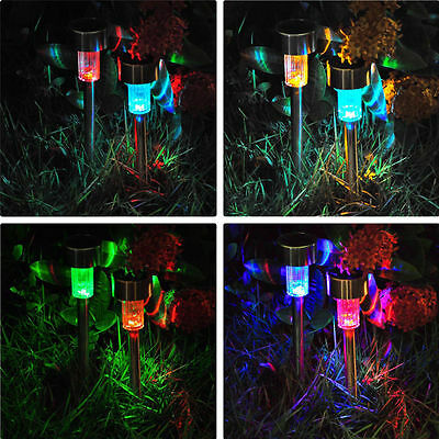 Hot Colour Changing Solar Power Light LED Stainless Steel Outdoor Lighting Lamp