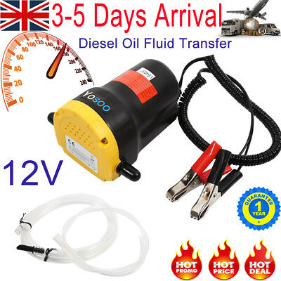 12V Diesel Oil Fluid Transfer Extractor Pump Electric Suction for Car Motorbike