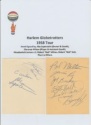 Abe Saperstein Founder Of The Harlem Globetrotters Very Rare Hand Hand Signed ++