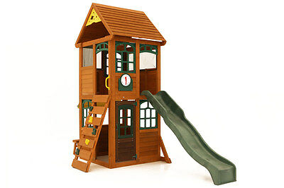 Glee Fort Climbing Frame With Rock Wall Ladder & Slide
