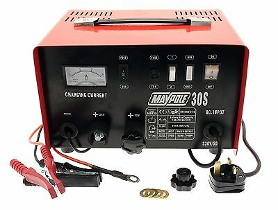 Maypole MP730 20A Metal Battery Charger 12/24V Fast/Boost Mode