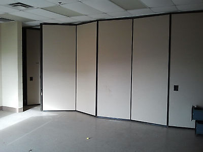 Wall Partition - Hufcor Folding Sliding Retractable Room Divider with Track