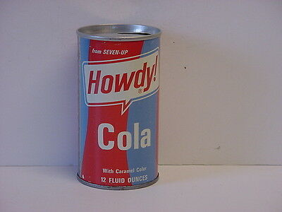 Vintage Howdy! Cola Straight Steel Pull Tab Soda Can Top Opened from 7-Up