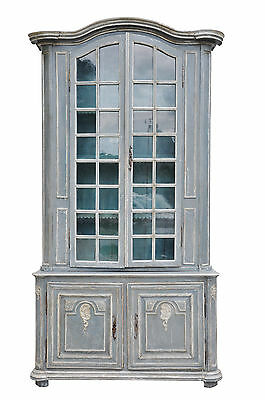 Authentic 18Th Century Painted Provencal Buffet A Deux Corp