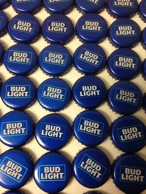 """Lot Of 100 Bud Light Beer Bottle Caps  No Dents """"new Style"""""""