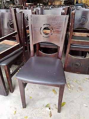 Lot of 90 Wood Restaurant Chairs