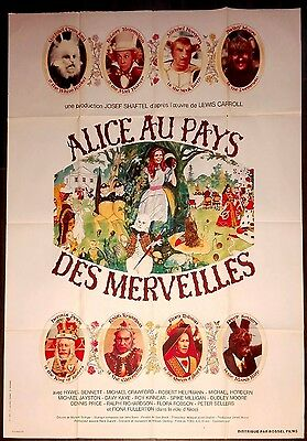 1972 ALICE'S ADVENTURES IN WONDERLAND Dudley Moore 47x63 French movie poster