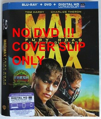 No Discs !! Mad Max Fury Road Blu-Ray Cover Slip Only - No Discs !!   (Inv13202)