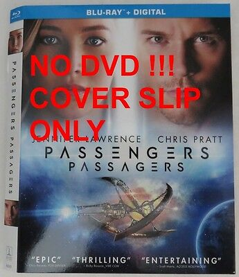 No Discs !! Passengers Blu-Ray Cover Slip Only - No Discs !!         (Inv13196)