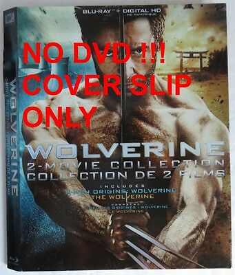 No Discs !! Wolverine Collection Blu-Ray Cover Slip Only - No Discs !!(Inv13203)