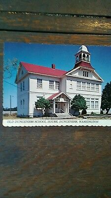 Old Dungeness School House Near Port Townsend Washington Rare Post Card