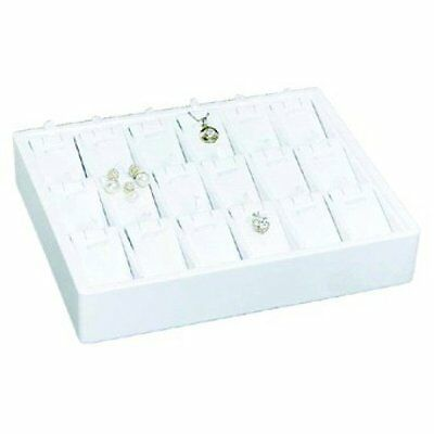 New MM PT-918-WH Stackable 18 Pendant/Earring Tray Jewelry Display