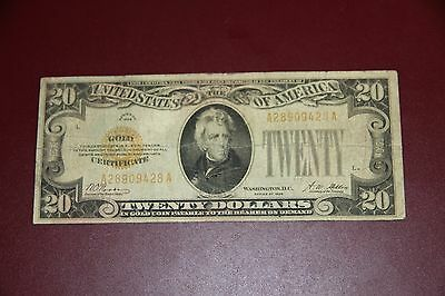 Series of 1928 $20 GOLD CERTIFICATE RMC 155