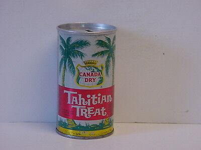 Vintage Canada Dry Tahitian Treat Straight Steel Pull Tab Top Opened Soda Can