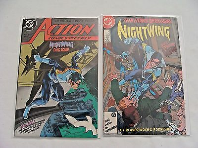 Teen Titans Spotlight #14 Nightwing & Action Comics Weekly #613 LOT of 2