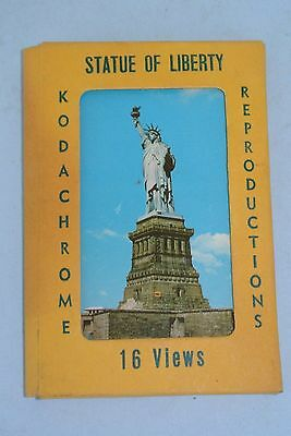 Vtg. 1950's Kodachrome Picture Scene Views Travel Souvenir ~ Statue of Liberty