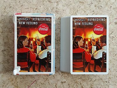 1963 Coca-Cola Advertising Playing Cards - Man & Woman by Fireplace!!