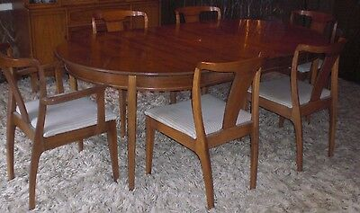 Mid-Century Modern Dining Set - 6 Chairs, Table, China Hutch!