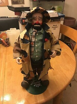 "COLLECTIBLE 100th ANNIVERSARY COCA-COLA EMMETT KELLY ""TO MARKET""CLOWN DOLL 17 In"