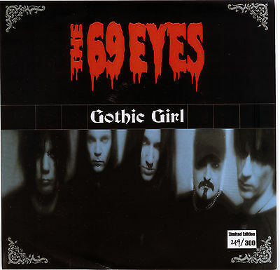 "THE 69 EYES  ""GOTHIC GIRL c/w BRANDON LEE  - RADIO MIX"" LTD.  RED VINYL  LISTEN"""
