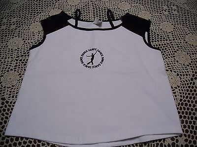 Girls Body Wrappers Dance Cropped Top Shirt sz 12-14