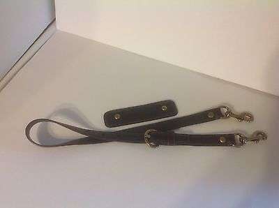 Authentic Coach Replacement Strap For Bag Purse Dark Brown Garcia Leather Brass