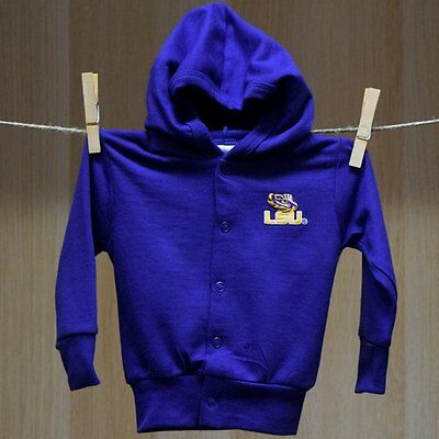 LSU Tigers Baby Infant Hooded Sweater Jacket (FREE SHIPPING) 0-3 months