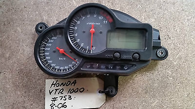 Honda VTR1000 2006 Instrument Cluster, Gauges, Speedo, Thaco, Dash