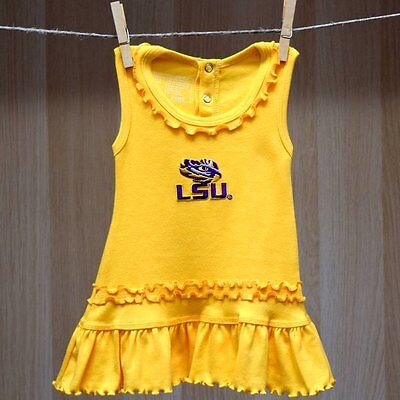 LSU Tigers Baby Infant Girl Ruffle Tank Top Dress (FREE SHIPPING) 6-9 months