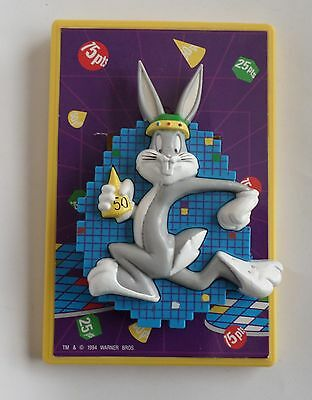 Looney Tunes Light Switch Plate Cover Easy Slide 3D Bugs Bunny
