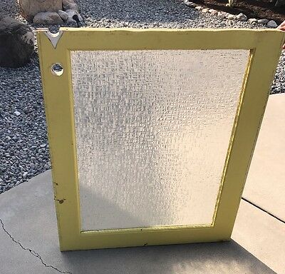 Architectural Salvage - Vintage Mid-Century 1950s heavy glass window/door