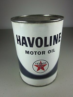 HAVOLINE 1 qt metal motor oil can Texas Co Texaco