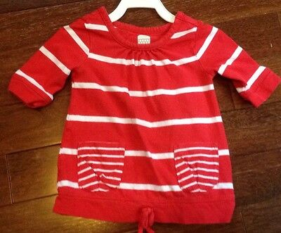 Old Navy Girl 18-24 Month Red 3/4 Sleeve Shirt