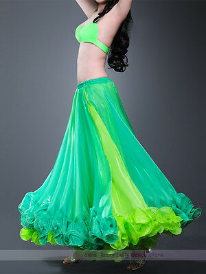 High Quality Belly Dance Costume Skirts 2 Colors 2 Layers Skirt/Dress 10 colors