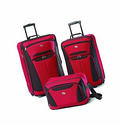 American Tourister Luggage Fieldbrook II 3 Piece Set Red/Black