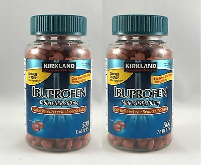 Kirkland IBUPROFEN (500 TABLETS) 200mg Pain Reliever x 2