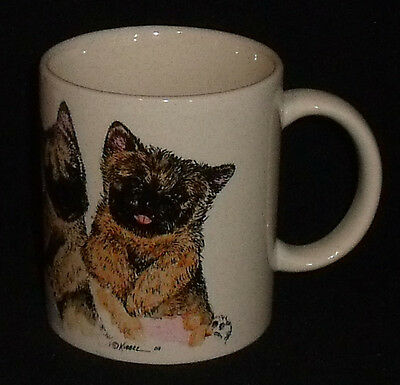 Cairn Terrier Mug Cup Hand Painted by Roger Kibbee Numbered Signed